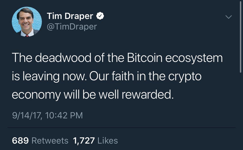 tim draper cult leader tweet