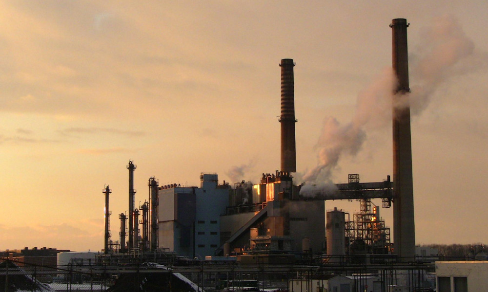 kodak coal plant sunset