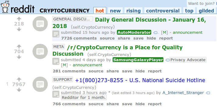 r cryptocurrency suicide hotline 2018 01 16 2205