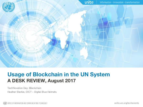 un usage of blockchain p1