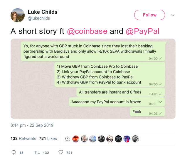 a short story featuring coinbase and paypal