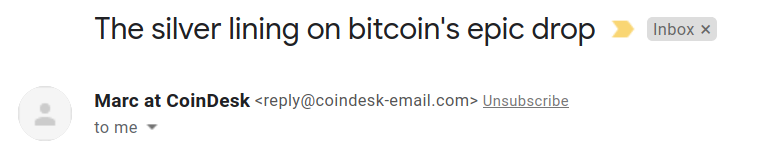 the silver lining on bitcoins epic drop