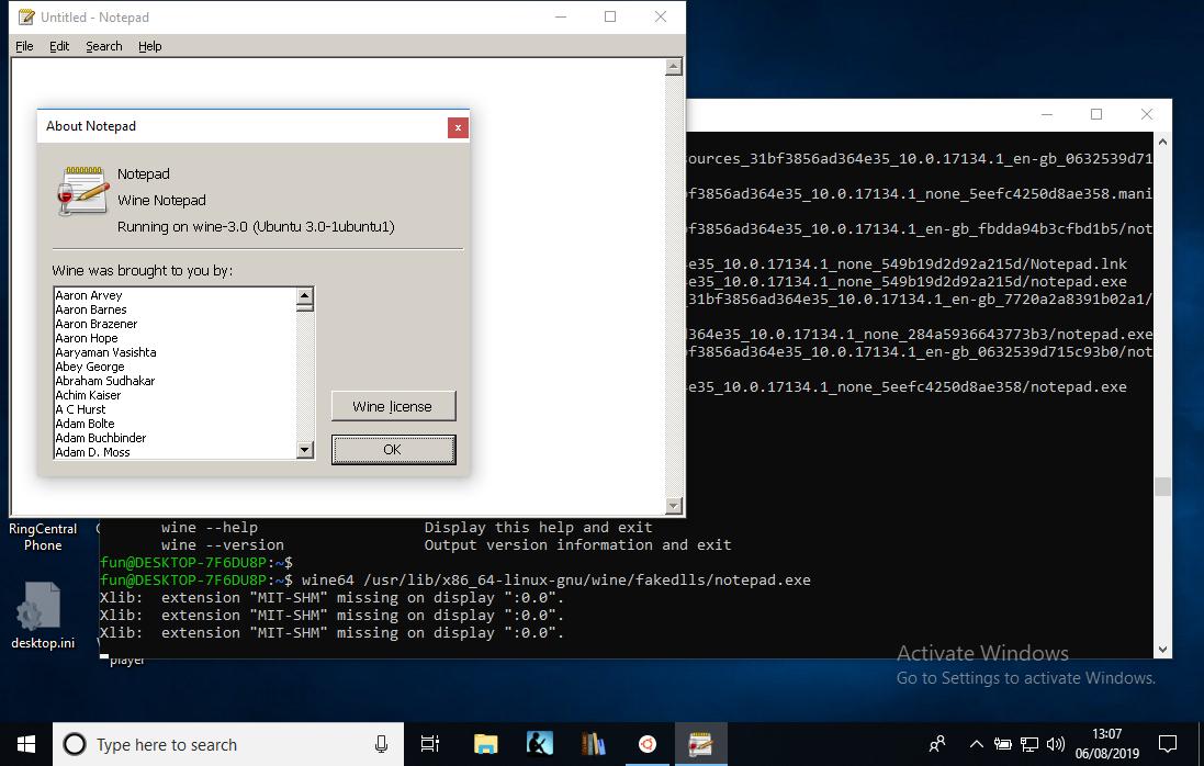 reddragdiva | Wine on Windows 10. It works.